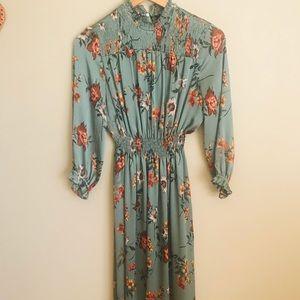 Zara floral midi dress.